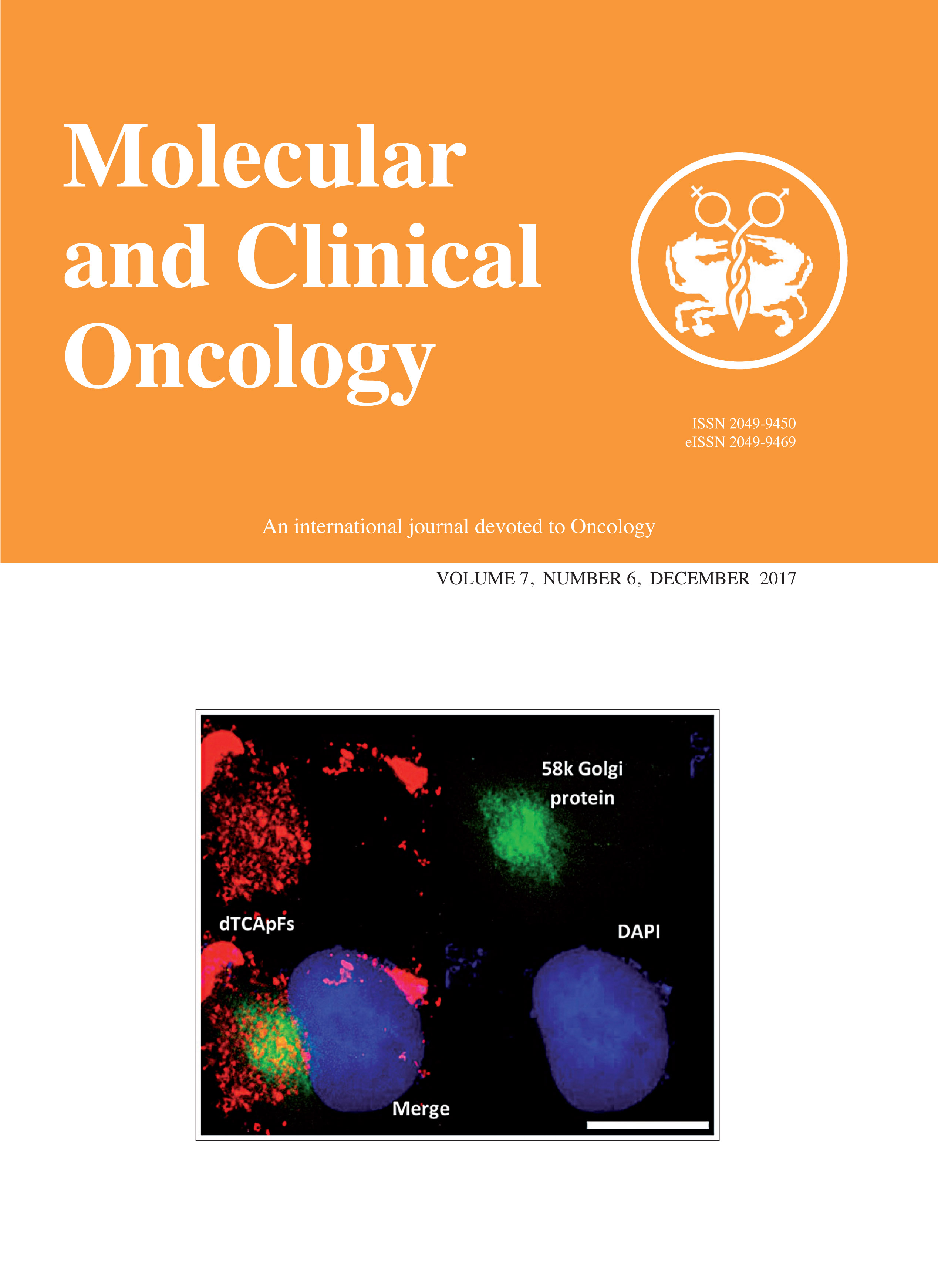 Molecular and Clinical Oncology Cover
