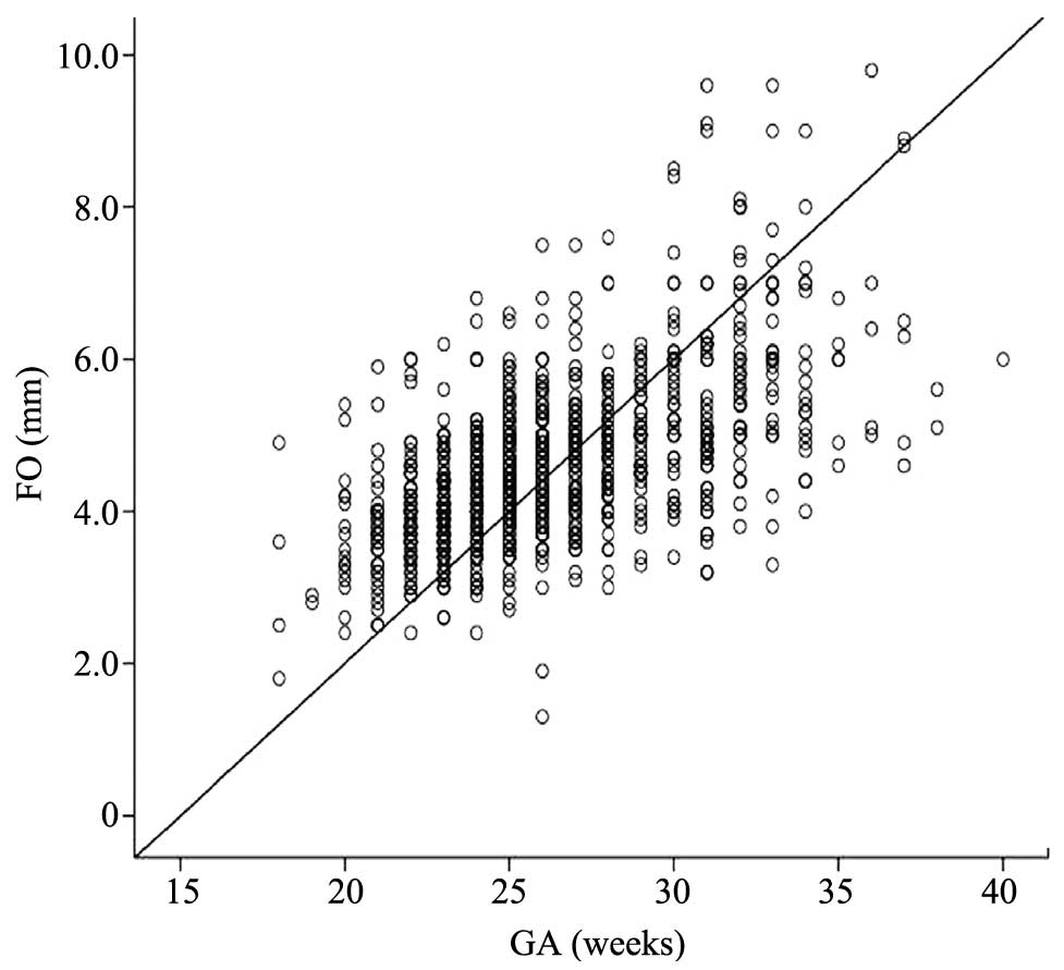Diagnostic value of an ROC curve of the size of the