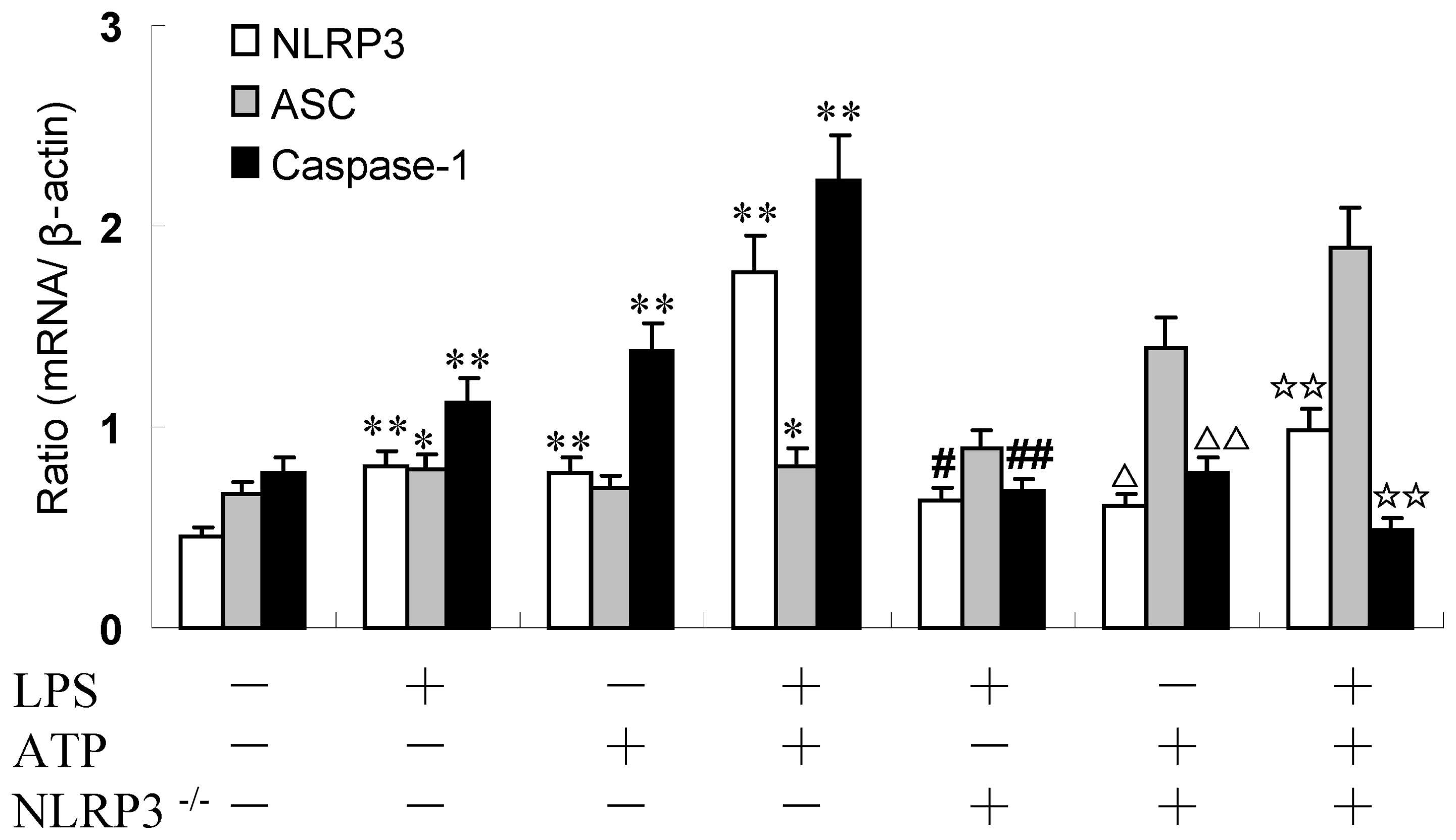 Lipopolysaccharide/adenosine triphosphate induces IL‑1β ...