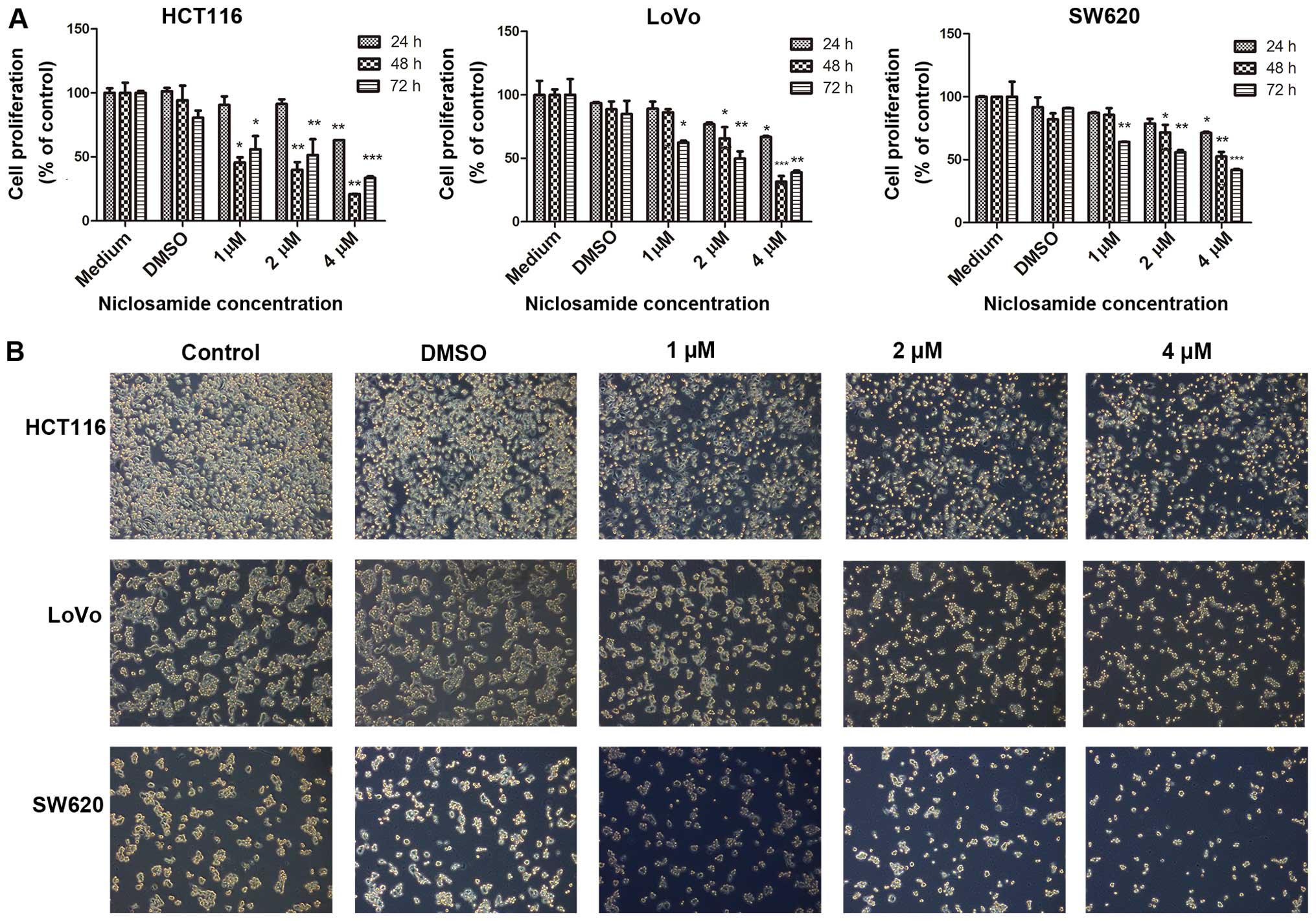Niclosamide Inhibits Colon Cancer Progression Through Downregulation Of The Notch Pathway And Upregulation Of The Tumor Suppressor Mir 200 Family