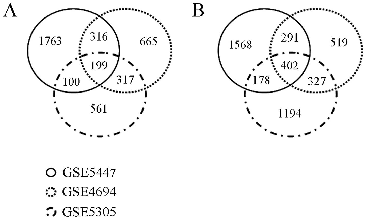 Lrrc75b Is A Novel Negative Regulator Of C2c12 Myogenic Differentiation 2001 Mercedes Benz E 430 Fuse Box Designation Figure 1 Venn Diagrams The Differentially Expressed Genes Identified From Datasets Used Intersection Upregulated Among