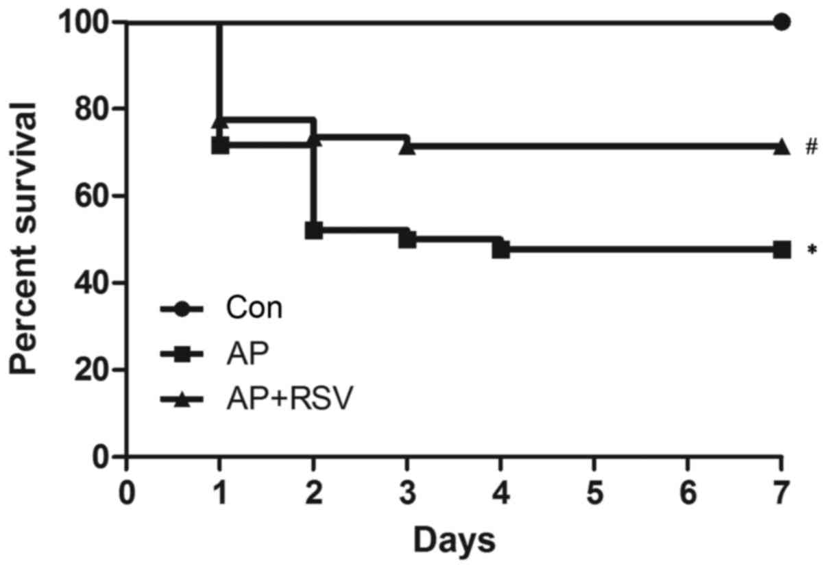 Resveratrol protects against L-arginine-induced acute