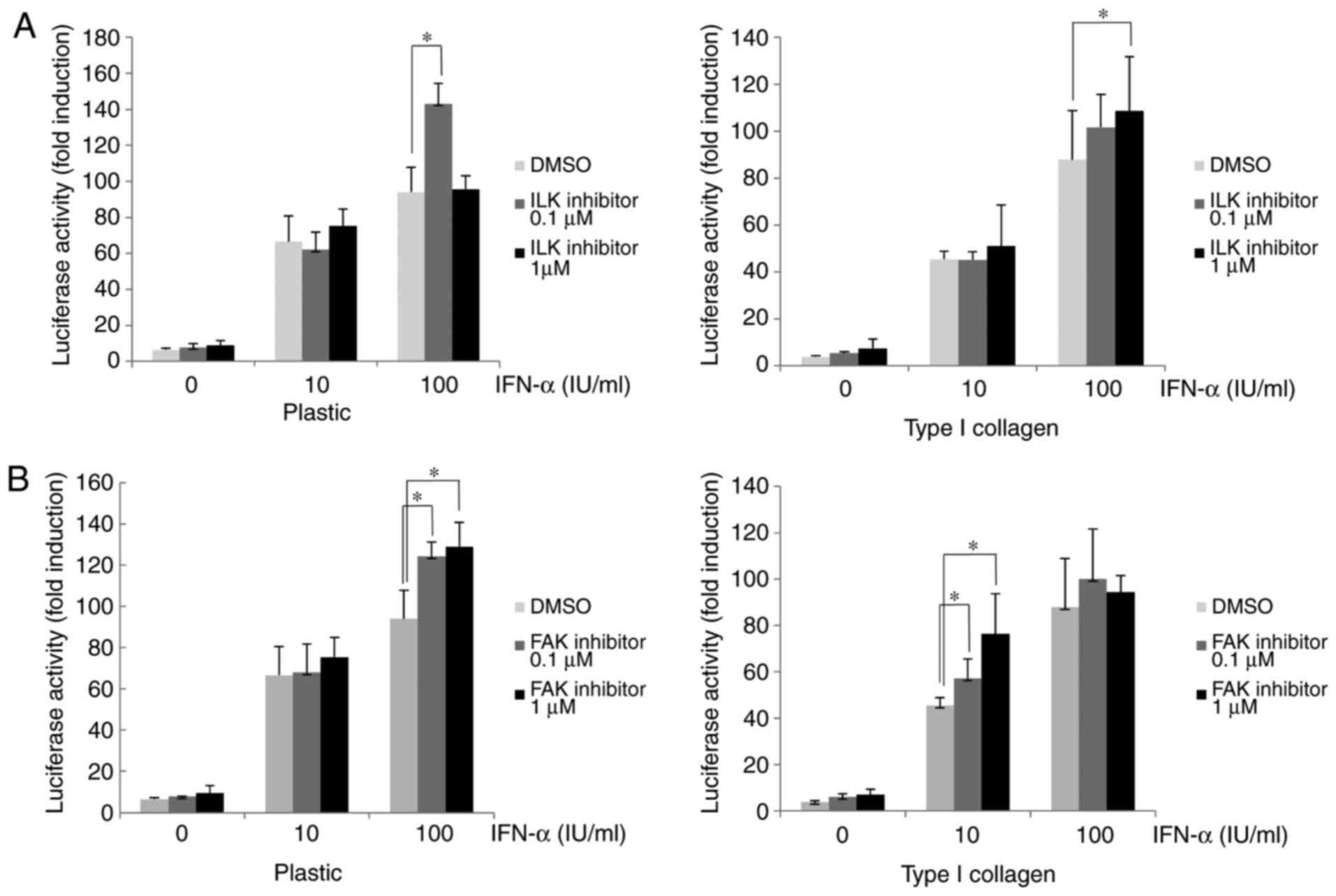 Regulation of interferon signaling and HCV‑RNA replication