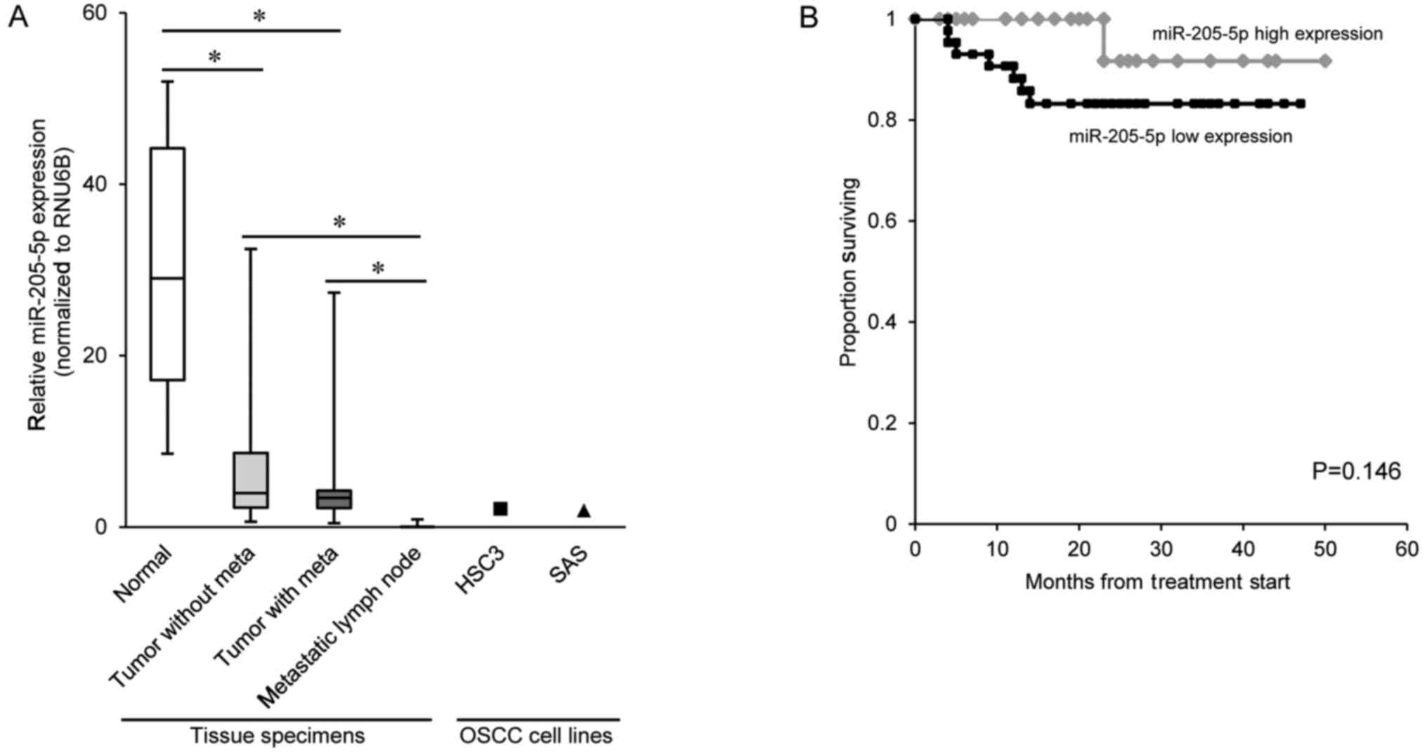 Microrna 205 5p Suppresses The Invasiveness Of Oral Squamous Cell Vada Fuse Box And Whisker Plots Represent Data From Clinical Specimens Middle Line Median Lower Minimum Upper Maximum