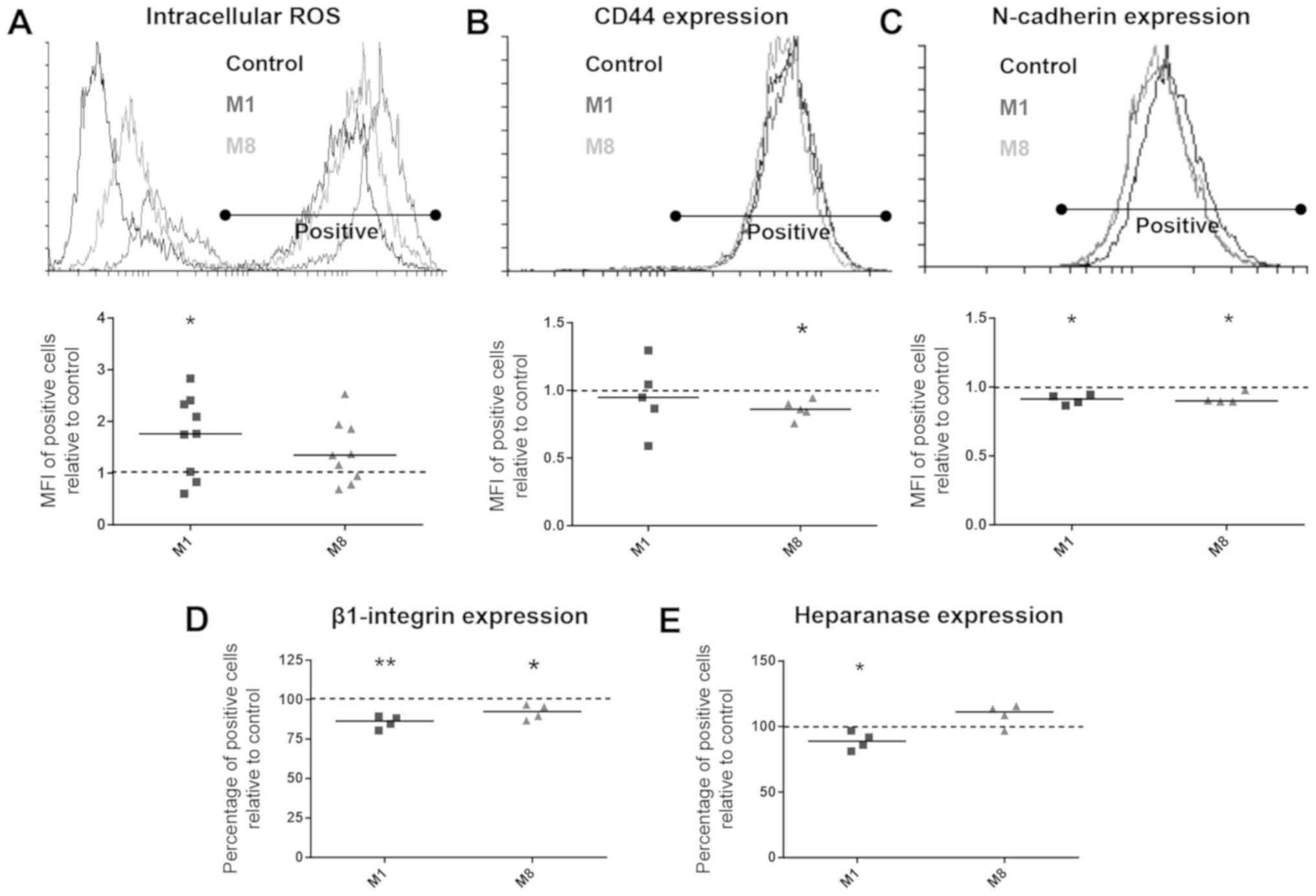 In vitro attenuation of classic metastatic melanoma‑related