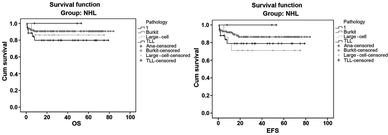 Disease patterns of pediatric non‑Hodgkin lymphoma: A study