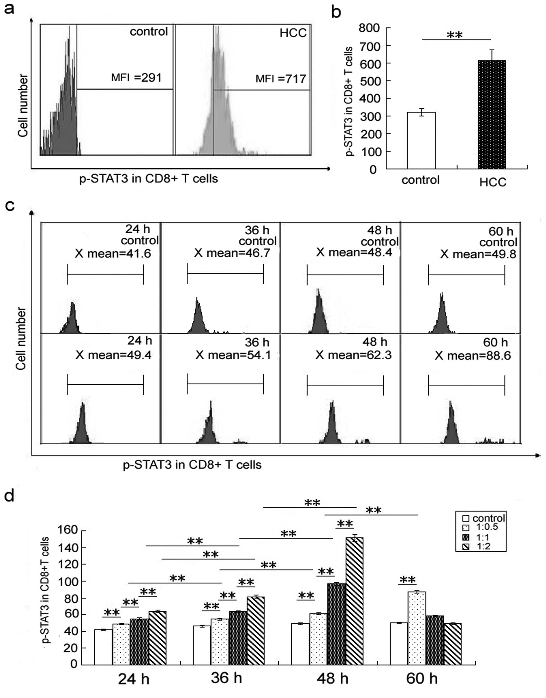 jbchan.in soft The level of phosphorylated signal transducer and activator of  transcription 3 (p-STAT3) is increased in peripheral CD8+ T cells in  hepatocellular carcinoma ...