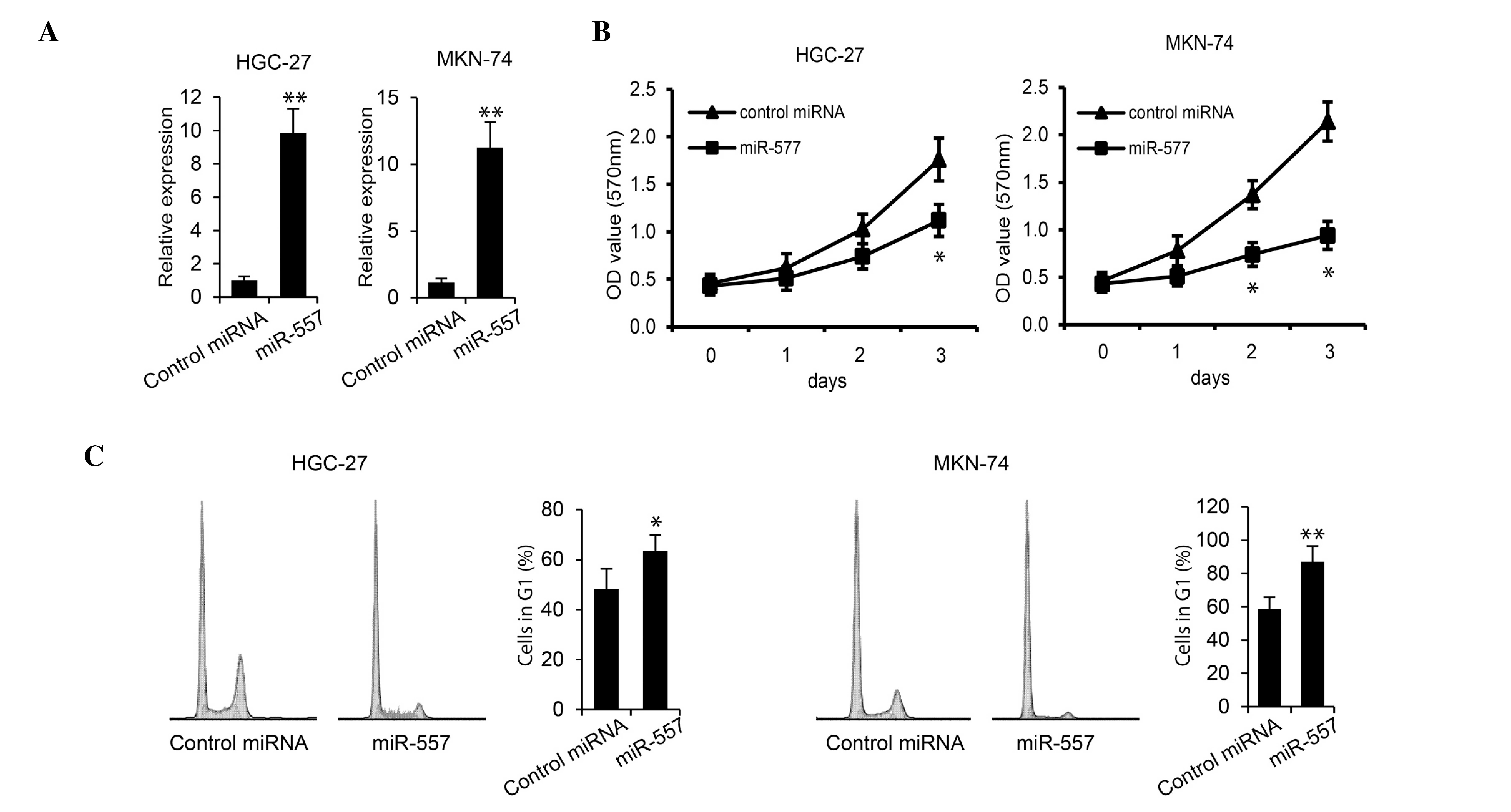 HNRNPK overexpression suppressed GC cell tumor growth in