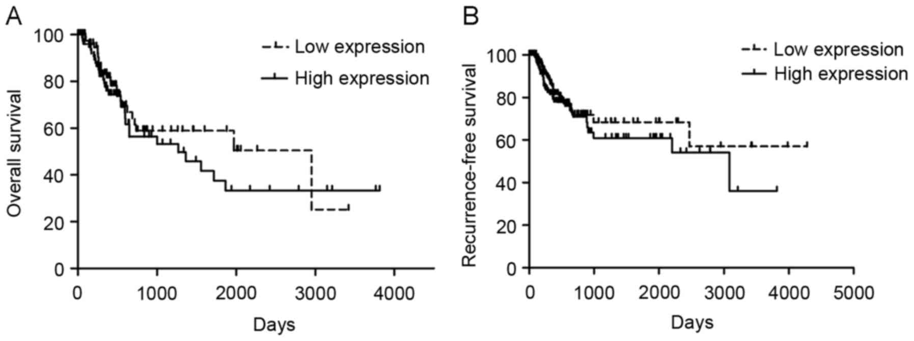 The expression and clinical si...