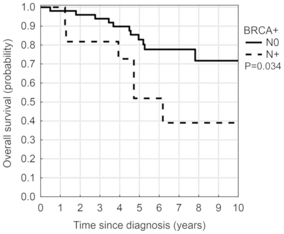Brca1 Mutation In Breast Cancer Patients Analysis Of Prognostic Factors And Survival