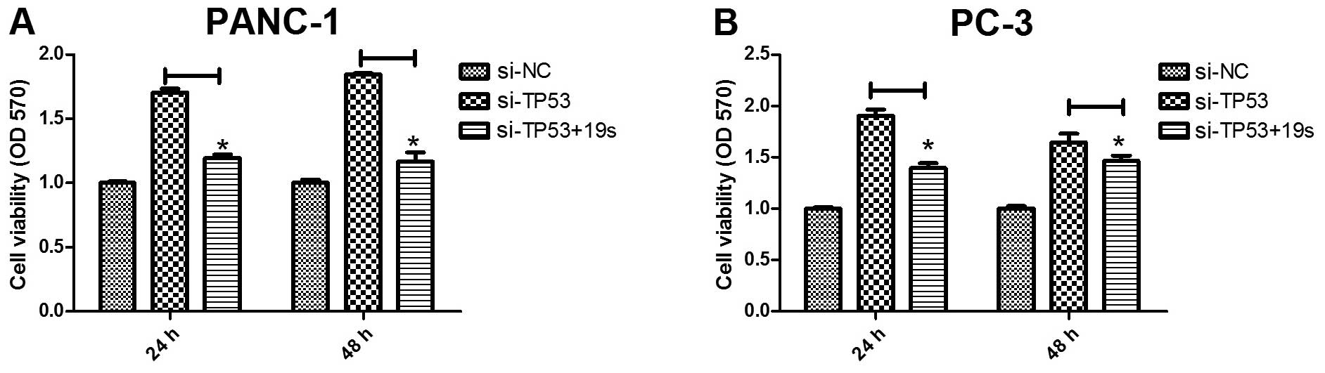 A Positive Feedback Loop Of P53 Mir 19 Tp53inp1 Modulates Pancreatic Komatsu Sk 714 Wiring Diagram Figure 2 19a B Partly Rescues The Effects Tp53 Protein In Cancer Cells Cell Proliferation Was Measured Panc 1 At 24 And 48