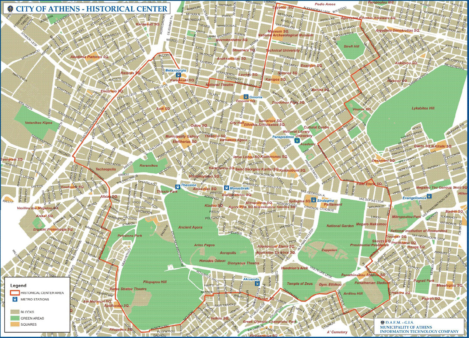 Spandidos Publications Athens Map